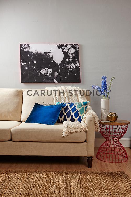 Photo print over sofa