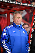 Chelsea Manger Guus Hiddink during the Barclays Premier League match between Bournemouth and Chelsea at the Goldsands Stadium, Bournemouth, England on 23 April 2016. Photo by Adam Rivers.