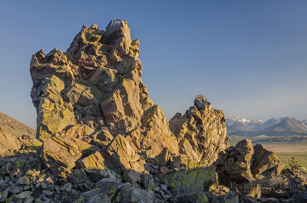 Volcanic Rock formations at Panum Crater, Mono Craters, Mono County, Eastern Sierra, California