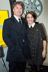 © Licensed to London News Pictures. 04/03/2014. Brynmawr, Blaenau, Gwent. Jonny & Vicky in the cinema foyer with old 35mm projector. Merthyr Tydfil's very own Jonny Owen premieres his latest film SVENGALI, co-starring Vicky McClure, which was shot on location in the Welsh mining valleys. The premiere is held at the oldest independent cinema in Wales – The Market Hall Cinema in Brynmawr. Photo credit : Graham M. Lawrence/LNP