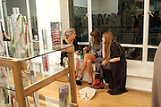 NAIMH QUINN; MARIE-FRANCE KITTLER; SARANNE WOODCROF- LUIZ ZERBINI  -EVERY JETSON HAS A FLINTSTONE INSIDE <br /> Max Wigram Gallery-BOND STREET,  London. 8 September 2011. <br />  <br />  , -DO NOT ARCHIVE-© Copyright Photograph by Dafydd Jones. 248 Clapham Rd. London SW9 0PZ. Tel 0207 820 0771. www.dafjones.com.