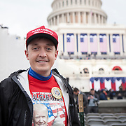 "Bryce Younquist, of Mountain View, CA, attended the Inauguration of Donald Trump as the 45th President of the United States, January 20, 2017.  He expressed hope that the President Trump could bring stability to or fix, ""...healthcare, the economy and national security...I'm hoping for the best.  Trump is like a wildcard, and I'm [betting on] him...Hillary was more of the same...""  John Boal Photography"