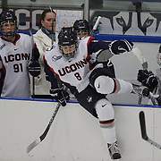 Rebacca Lindblad, UConn, enters the game from the bench during the UConn Vs Boston University, Women's Ice Hockey game at Mark Edward Freitas Ice Forum, Storrs, Connecticut, USA. 5th December 2015. Photo Tim Clayton