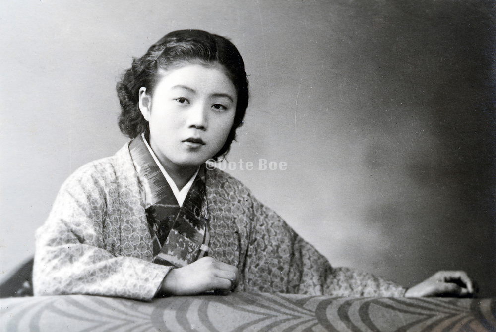 young adult Japanese woman portrait ca 1950s