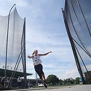 Liz Podominick, USA, in action in the Women's Discus throw event during the Diamond League Adidas Grand Prix at Icahn Stadium, Randall's Island, Manhattan, New York, USA. 13th June 2015. Photo Tim Clayton