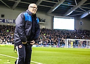 Reading first team manager Brian McDermott during the Sky Bet Championship match between Brighton and Hove Albion and Reading at the American Express Community Stadium, Brighton and Hove, England on 15 March 2016. Photo by Bennett Dean.