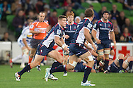 Rory Sidey (Rebels) in action during the Round 14 match of the 2013 Super Rugby Championship between RaboDirect Rebels vs DHL Stormers at AAMI Park, Melbourne, Victoria, Australia. 17/05/0213. Photo By Lucas Wroe