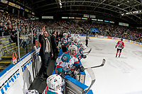 KELOWNA, CANADA - APRIL 14: Kelowna Rockets' assistant coach Kris Mallette calls to ice officials from the bench against the Portland Winterhawks on April 14, 2017 at Prospera Place in Kelowna, British Columbia, Canada.  (Photo by Marissa Baecker/Shoot the Breeze)  *** Local Caption ***