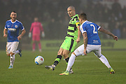 Forest Green Rovers Liam Noble(15) plays a pass during the Vanarama National League match between Forest Green Rovers and Dover Athletic at the New Lawn, Forest Green, United Kingdom on 17 December 2016. Photo by Shane Healey.