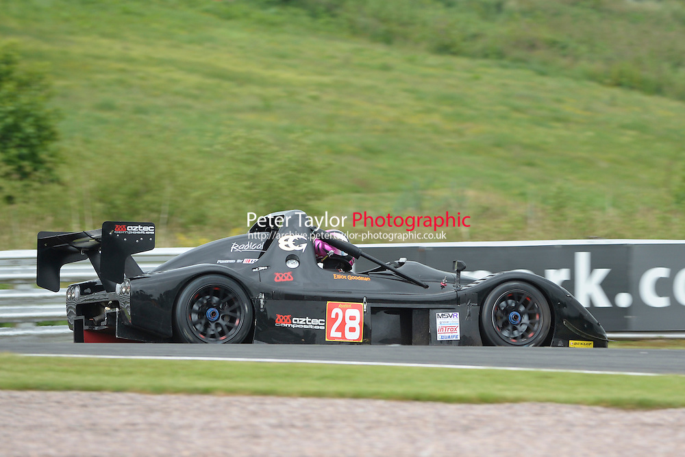 #28 Elliott GOODMAN SR3 during Radical Sprint Championship as part of the MSVR Oulton Park  20th June 2015 at Oulton Park, Little Budworth, Cheshire, United Kingdom. June 20 2015. World Copyright Taylor/PSP. Copy of publication required for printed pictures.  Every used picture is fee-liable. http://archive.petertaylor-photographic.co.uk