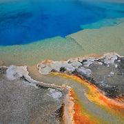 Deep Blue Pool Cyanobacteria Overflow - Yellowstone National Park