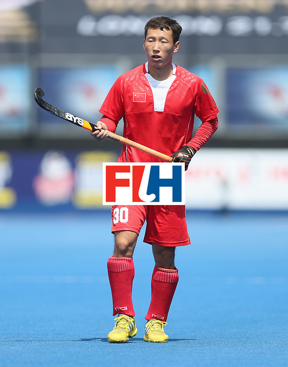 LONDON, ENGLAND - JUNE 17:  Weibao Ao of China during the Hero Hockey World League semi final match between China and Korea at Lee Valley Hockey and Tennis Centre on June 17, 2017 in London, England.  (Photo by Alex Morton/Getty Images)