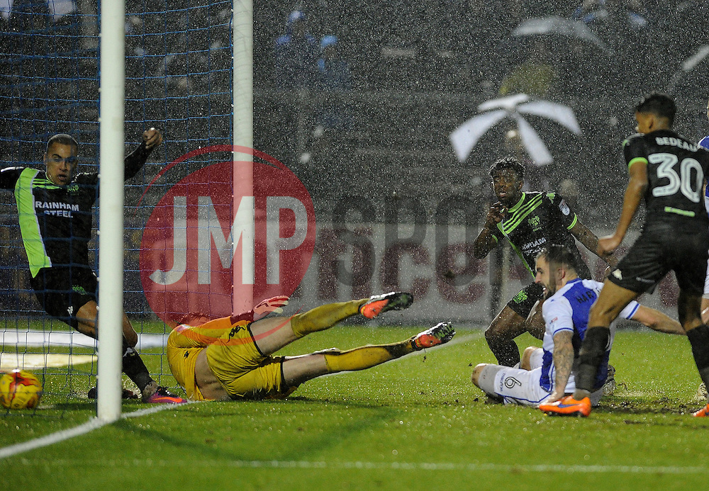 Peter Hartley of Bristol Rovers clinches the win with the fourth goa - Mandatory by-line: Neil Brookman/JMP - 10/12/2016 - FOOTBALL - Memorial Stadium - Bristol, England - Bristol Rovers v Bury - Sky Bet League One