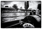 "Henley on Thames,  GREAT BRITAIN,  Rowing - Henley Henley Royal Regatta,  umpires launch,  Sport,, ""Film Noir Style Photography"", © Peter SPURRIER,"