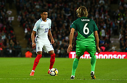 Jesse Lingard of England takes on Rene Krhin of Slovenia - Mandatory by-line: Robbie Stephenson/JMP - 05/10/2017 - FOOTBALL - Wembley Stadium - London, United Kingdom - England v Slovenia - World Cup qualifier