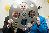 01/12/2014 Repro free  UNESCO Director-General, Ms Irina Bokova, announced from Paris &nbsp;&nbsp;that Galway has been designated a UNESCO City Of Film. Under the UNESCO Creative City&rsquo;s network, Galway is now one of only five cities in the world to &nbsp;achieve this much sought-after status.  This is a &nbsp;permanent global designation. This status brings &nbsp;the highest internationally &nbsp;recognised standard of excellence in &nbsp;the creative industries to Galway. The title of Creative City of Film also includes membership of UNESCO&rsquo;s Creative City&rsquo;s Network.<br /> At the celebrations at the Galway Film Centre were Declan Gibbons Galway Film Centre with Mayor Of Galway Cllr Donal Lyons , Chairperson Galway County Council Cllr Mary Hoade . Photo:Andrew Downes