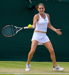 LONDON, ENGLAND - Friday, June 27, 2008: Agnieszka Radwanska (POL) during her third round match on day five of the Wimbledon Lawn Tennis Championships at the All England Lawn Tennis and Croquet Club. (Photo by David Rawcliffe/Propaganda)