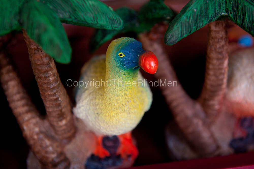 Mauritius. Dodo souvenir on sale at a small craft stall.