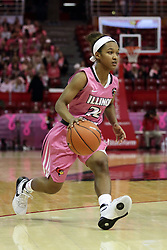 05 February 2016: Shakeela Fowler(22). Illinois State University Women's Redbird Basketball team hosted the Sycamores of Indiana State for a Play4 Kay game at Redbird Arena in Normal Illinois.