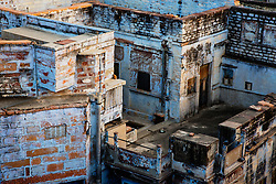 Rooftops of the blue city of Jodphur, Rajasthan, India,