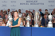 Henley on Thames, England, United Kingdom, 7th July 2019, Henley Royal Regatta, Prize Giving, The Princess Royal Challenge Cup, Emma TWIGG NZL., [© Peter SPURRIER/Intersport Image]<br /> <br /> 17:41:21 1919 - 2019, Royal Henley Peace Regatta Centenary,