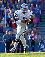 Kansas State quarterback Josh Freeman in action against Kansas at Memorial Stadium in Lawrence, Kansas, November 18, 2006.  Kansas beat K-State 39-20.<br />