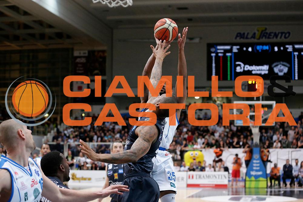 David Lighty<br /> Dolomiti Energia Aquila Basket Trento - Banco di Sardegna Dinamo Sassari<br /> Lega Basket Serie A 2016/2017<br /> PalaTrento 08/04//2017<br /> Foto Ciamillo-Castoria / M. Brondi