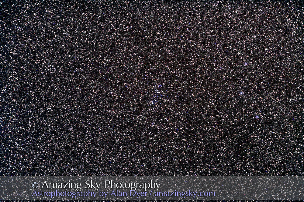 """NGC 6025 """"Spiral"""" Cluster in Norma. With Astro-Physics 4-inch Traveler apo refractor at f/6 with Hutech-modified Canon 5D camera at ISO800 for 3 minutes. Stack of 4 exposures. Taken from Coonabarabran, NSW, Australia, July 2006"""