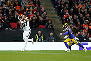 Cincinnati Bengals C.J. Uzomah (87) catches a pass during the International Series match between Los Angeles Rams and Cincinnati Bengals at Wembley Stadium, London, England on 27 October 2019.