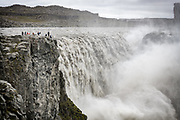 Dettifoss waterfall is with the greatest volume of any waterfall in Europe