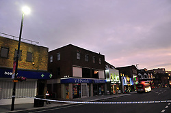 &copy; Licensed to London News Pictures. 15/07/2017<br /> Police attend after a youth was stabbed opposite a McDonalds in Eltham High Street, Eltham, South East London.<br /> Photo credit: Grant Falvey/LNP