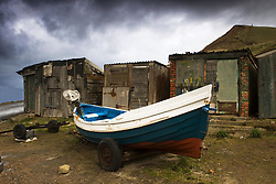 July 21, 2019 - Boat Beside Old Shacks (Credit Image: © John Short/Design Pics via ZUMA Wire)