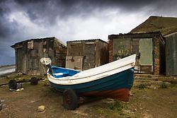 July 21, 2019 - Boat Beside Old Shacks (Credit Image: © John Short/Design Pics via ZUMA Wire)