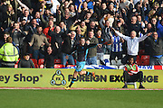 Sheffield Wednesday midfielder Aiden McGeady celebrates his goal during the Sky Bet Championship match between Nottingham Forest and Sheffield Wednesday at the City Ground, Nottingham, England on 12 March 2016. Photo by Jon Hobley.