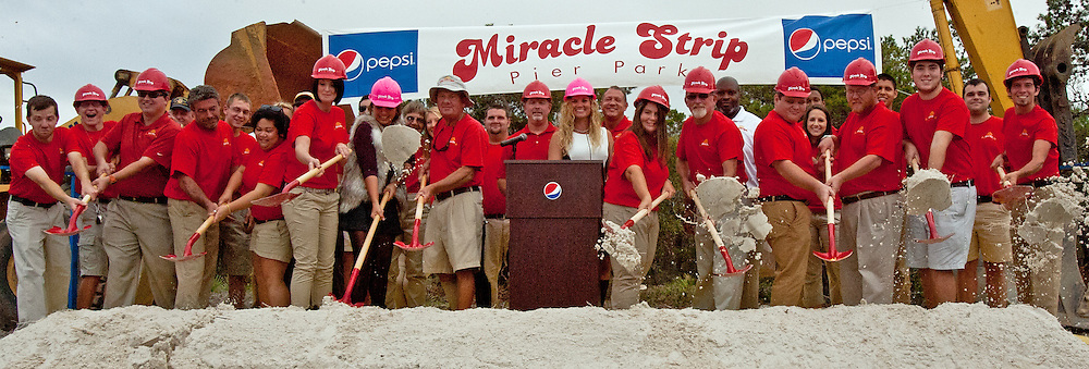 MIRACLE STRIP GROUND BREAKING CEREMONY, PANAMA CITY BEACH, FLORIDA