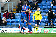 The Sunderland players celebrate Oxford United defender John Mousinho (15) own goal 0-1 during the EFL Sky Bet League 1 match between Oxford United and Sunderland at the Kassam Stadium, Oxford, England on 15 February 2020.