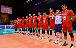 20150619 NED: World League Nederland - Portugal, Groningen<br /> De Nederlandse volleyballers hebben in de World League ook hun eerste duel met Portugal met 3-0 gewonnen / Line up Portugal
