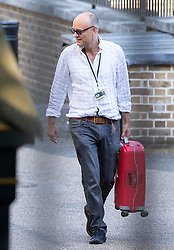 © Licensed to London News Pictures. 25/07/2019. London, UK. DOMINIC CUMMINGS arrives at the back of Downing Street the day after being appointed to government by new Prime Minster Boris Johnson. Photo credit: George Cracknell Wright/LNP