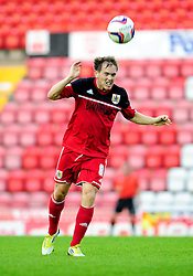Bristol City U21's Neil Kilkenny heads the ball - Photo mandatory by-line: Dougie Allward/Josephmeredith.com  - Tel: Mobile:07966 386802 04/09/2012 - SPORT - FOOTBALL - Professional Development League -  Bristol  - Ashton Gate -  Bristol City U21s v Brentford U21s