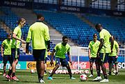 LUBLIN, POLEN 2017-06-18<br /> Joel Asoro under Sveriges U21 landslags tr&auml;ning p&aring; Arena Lublin den 18 juni, 2017.<br /> Foto: Nils Petter Nilsson/Ombrello<br /> Fri anv&auml;ndning f&ouml;r kunder som k&ouml;pt U21-paketet.<br /> Annars Betalbild.<br /> ***BETALBILD***