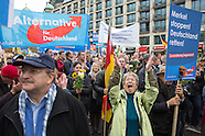 AfD march & counter protest
