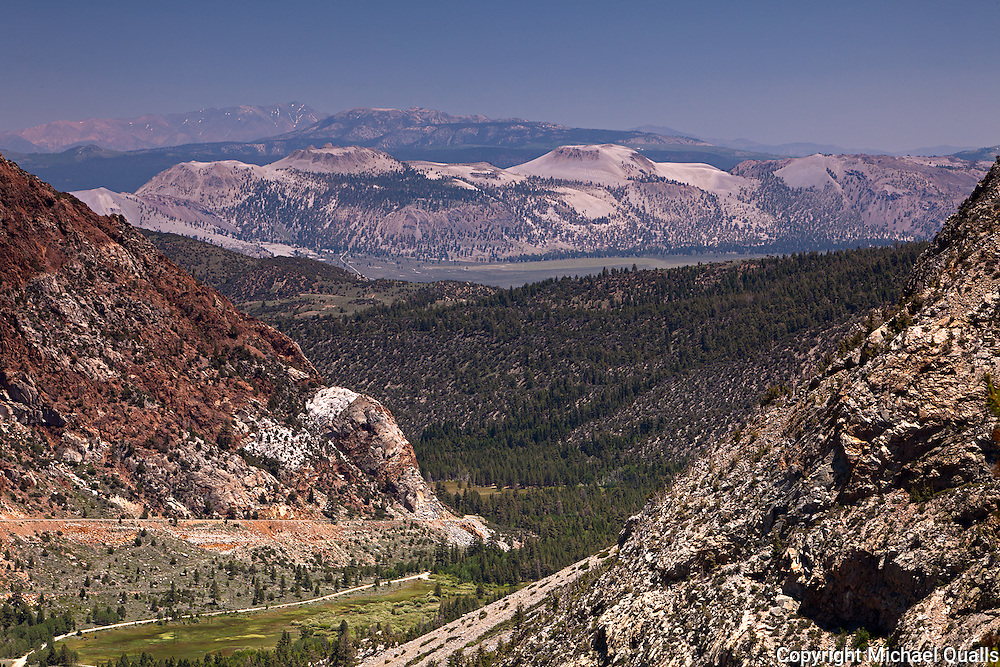 The Mono Craters and the beginning of Lee Vining Canyon.  Taken from the Tioga Pass Road at 9000'.