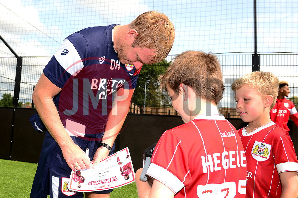 Assistant manager Dean Holden visits the Bristol City Community Trust Holiday camp at South Bristol Sports Centre - Mandatory by-line: Dougie Allward/JMP - 24/08/2017 - FOOTBALL - South Bristol Sports Centre - Bristol, England - Bristol City Community Trust Holiday Camp