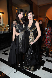 Left to right, DAISY LOWE and JASMINE GUINNESS at the launch of the Claridge's Christmas Tree designed by John Galliano for Dior held at Claridge's, Brook Street, London on 1st December 2009.