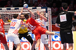 Lazar Kukic of Serbia during the handball match between National teams of Serbia and Croatia in Group A of Men's EHF EURO 2020 on January 13, 2020 in Stadhalle Graz, Graz, Austria