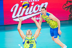 Alen Pajenk of Slovenia passing ball during friendly volleyball match between Slovenia and Serbia in Arena Stozice on 2nd of September, 2019, Ljubljana, Slovenia. Photo by Grega Valancic / Sportida