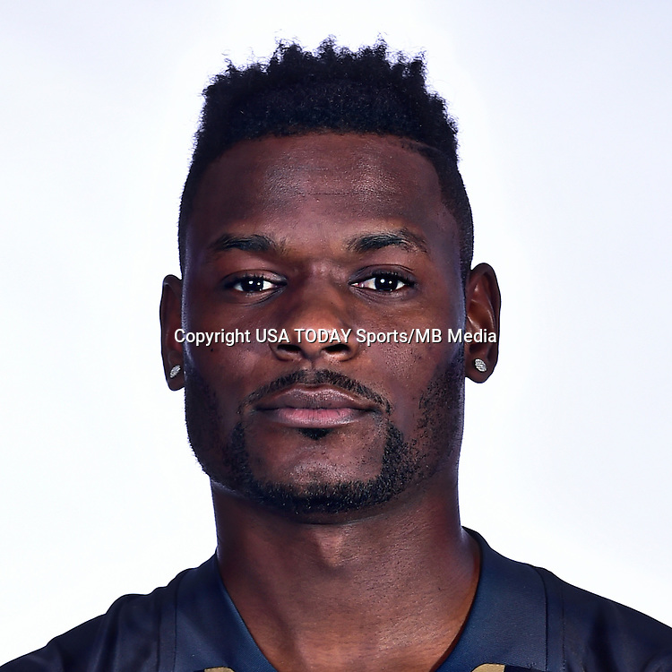 Feb 25, 2016; USA; Philadelphia Union player Maurice Edu poses for a photo. Mandatory Credit: USA TODAY Sports