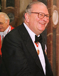 SIR JACK BAER at a dinner in London on 1st June 1999.MSR 11