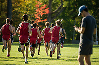 St Paul's School varsity and junior varsity cross country meet with Andover.   ©2017 Karen Bobotas Photographer