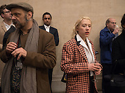 SIMON TYSZKO; MATILDE CERRUTI QUARA, Historical Dances in an  antique setting., Pable Bronstein. Annual Tate Britain Duveens commission.  London. 25 April 2016